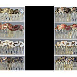 Genuine Cloisonne Hair Combs Set Your choice NWT